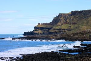 Looking across Port Noffer at The GIant's Causeway