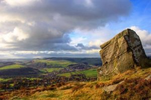 The view from Curbar Edge
