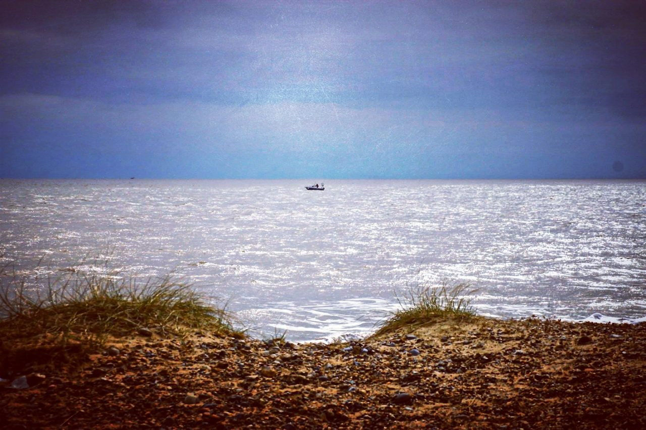 On the Suffolk Coastal Path at Walberswick Beach