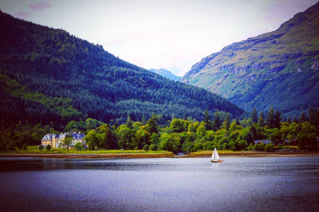 Looking across Loch Long