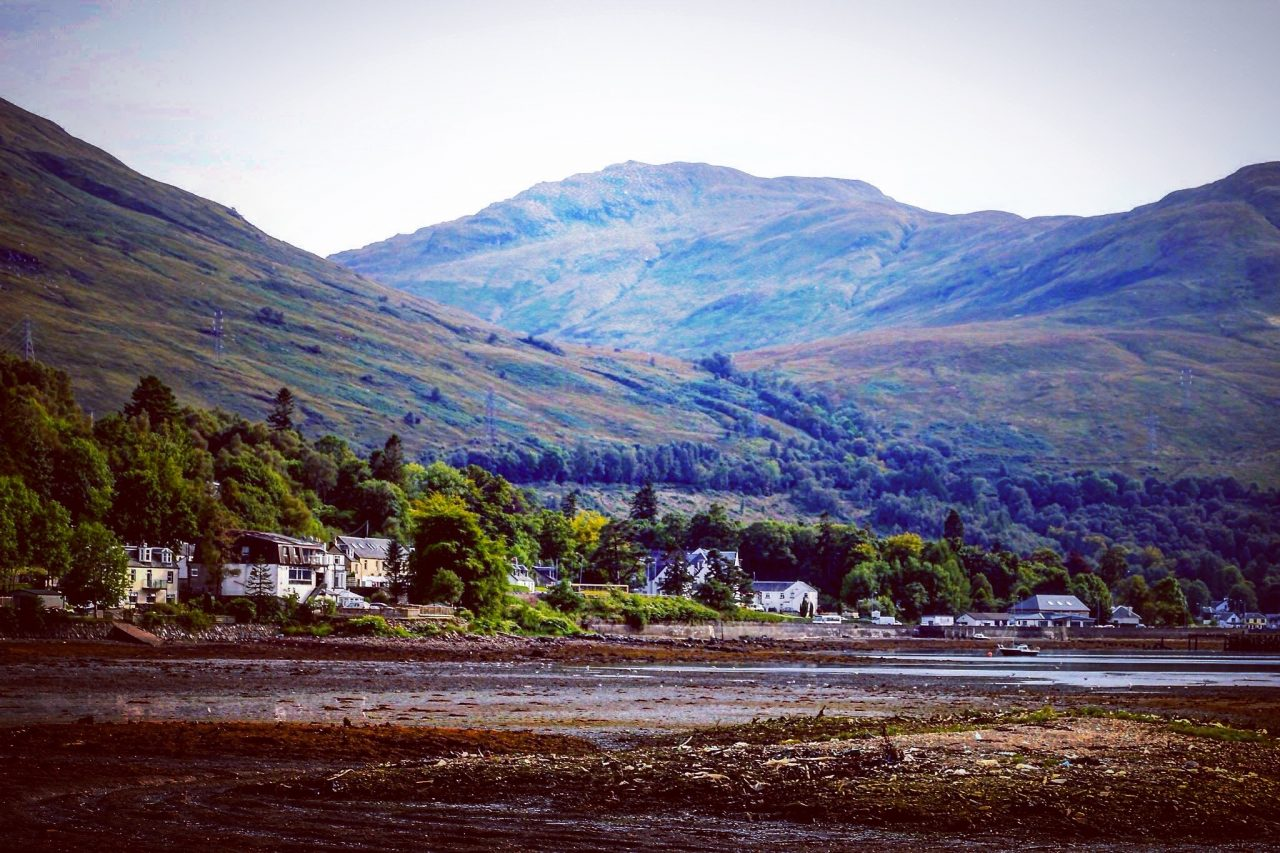 The pretty loch-side village of Arrochar