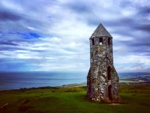 A Walk up to St. Catherine's Oratory on the Isle of Wight